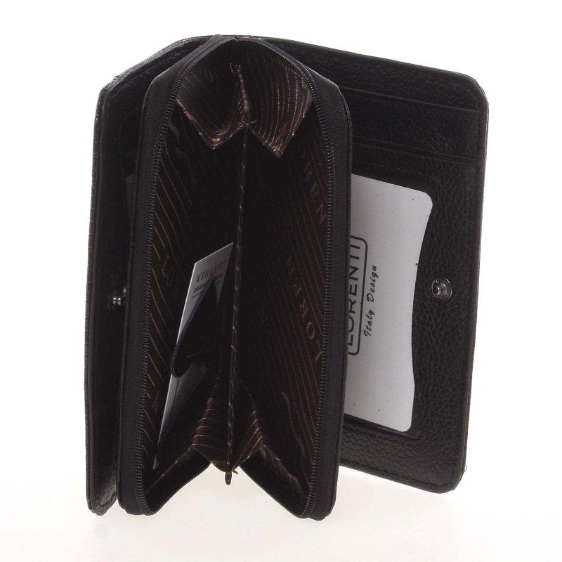 Elegantní dámská peněženka z pravé kůže Elen, černá