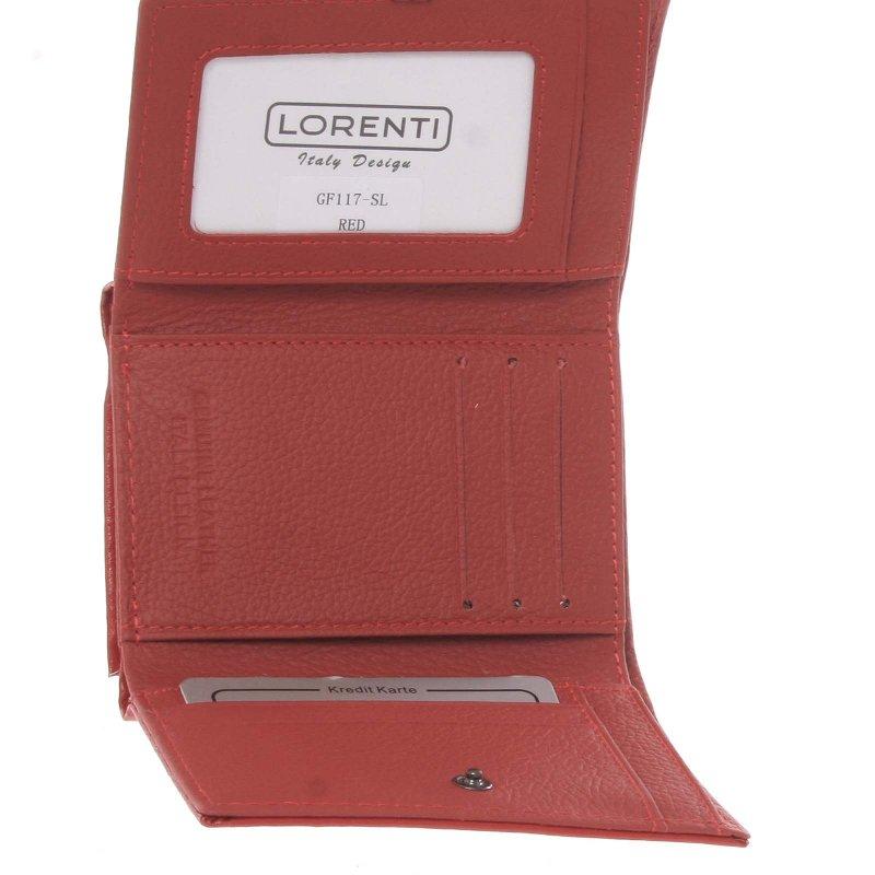 Kožená dámská peněženka Gladis, matná červená
