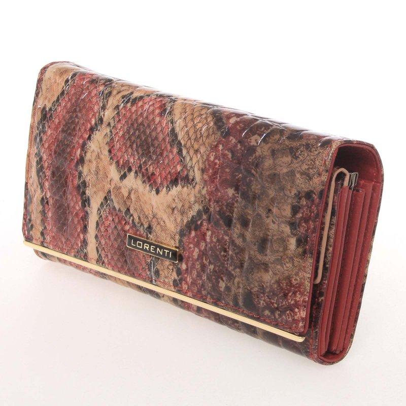 Dámská kožená peněženka s hadím vzorem Lumière
