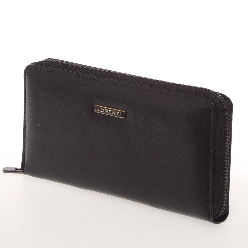 Dámská kožená peněženka na zip Loren, černá