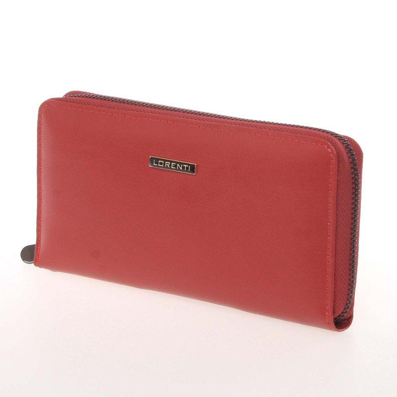 Dámská kožená peněženka na zip Loren, červená