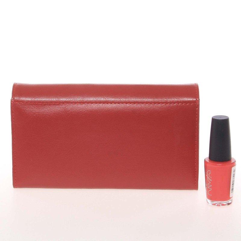 Originální dámská kožená peněženka Lorenti Spice, matná červená