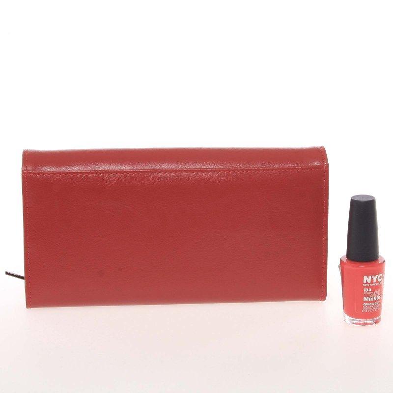Červená luxusní dámská peněženka Soledad X