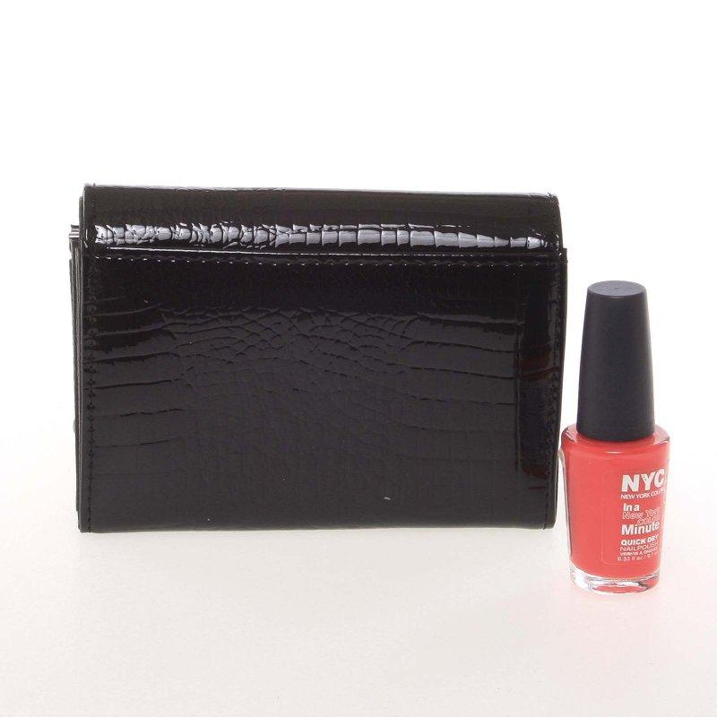 Designová dámská kožená peněženka 5IVE, černá