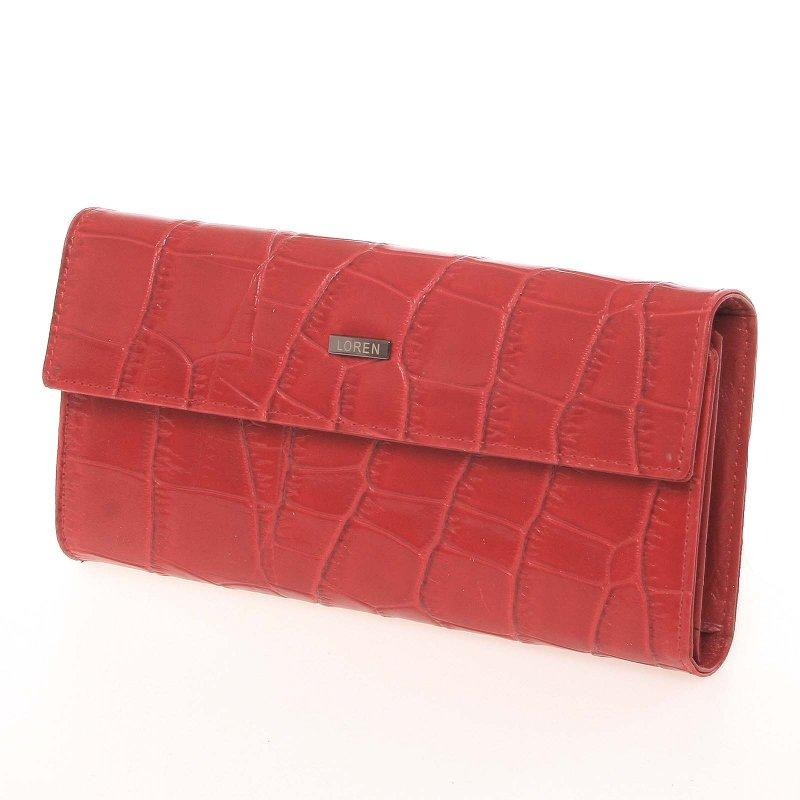 Dámská kožená lakovaná peněženka červená, Elena