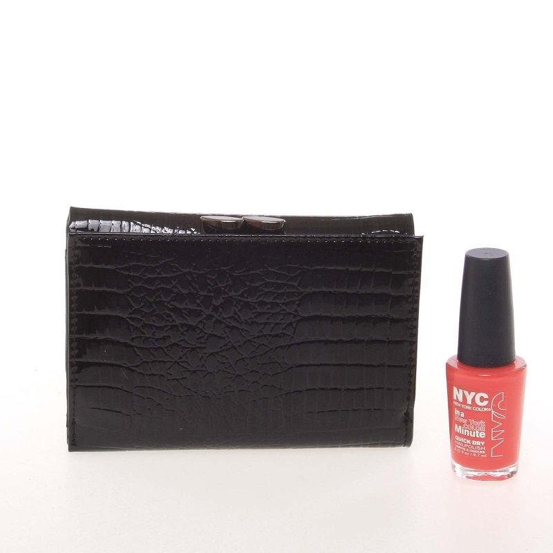 Malá kožená lakovaná dámská peněženka Lara