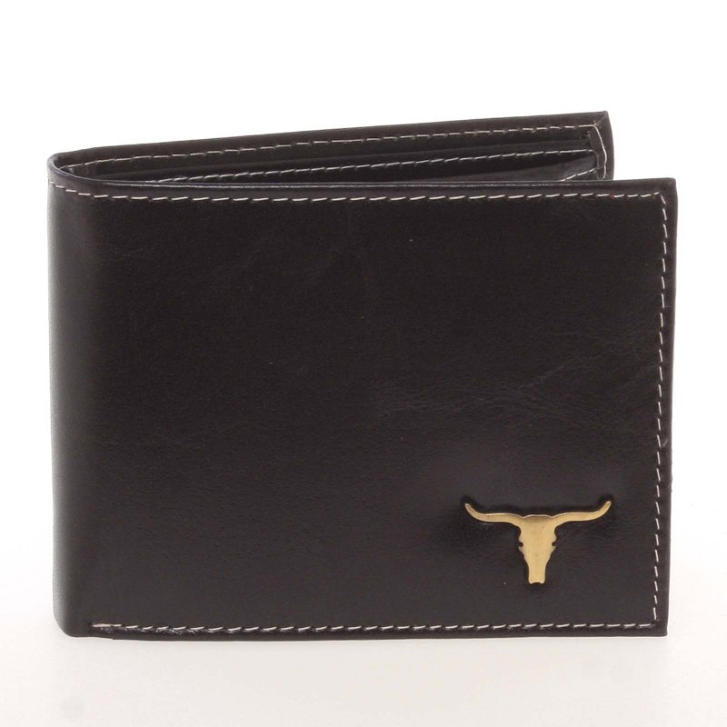 Originální pánská kožená peněženka Buffalo Horns, černá