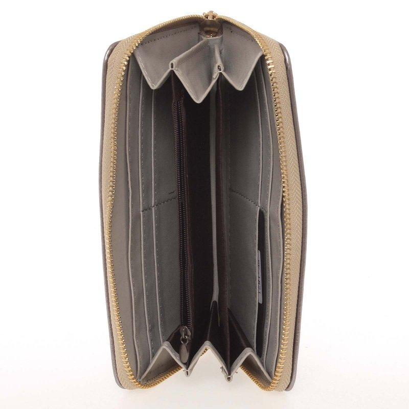 Dámská peněženka s motýlkem Milano Design, stříbrná