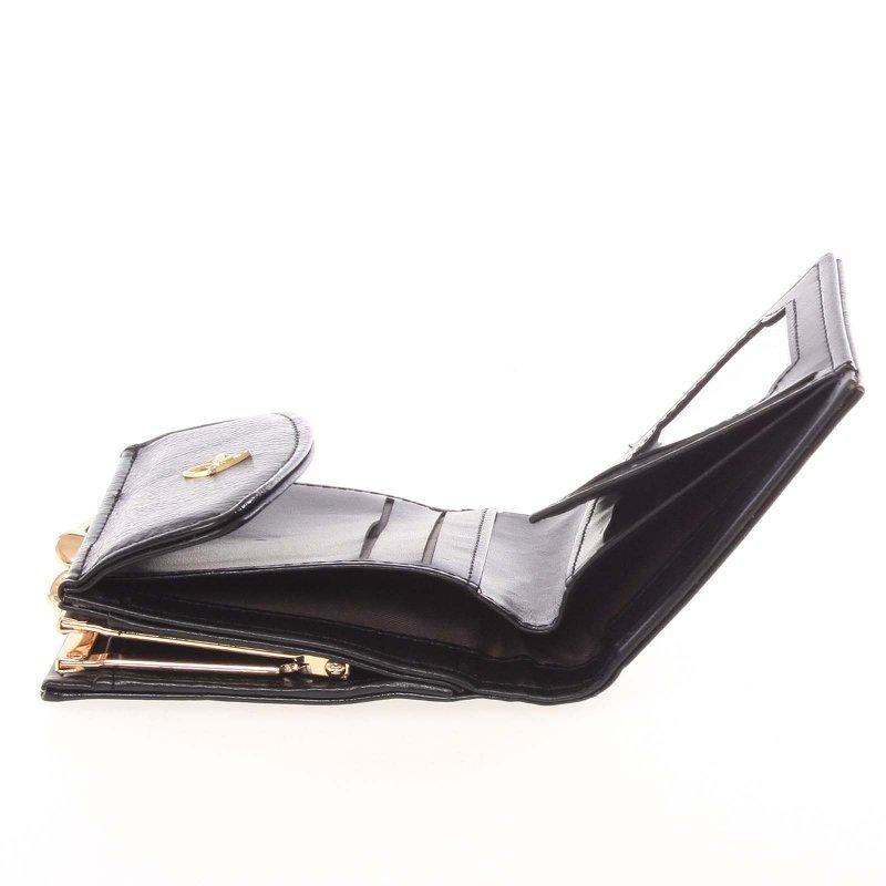 Dámská koženková peněženka Milano Design, černá
