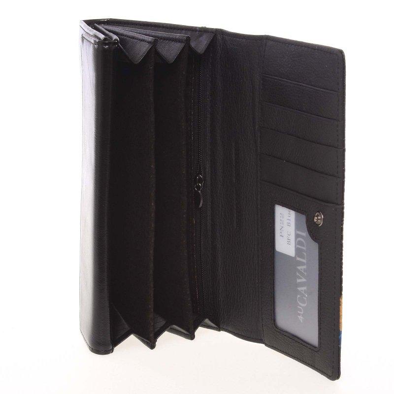 Exkluzivní polokožená dámská peněženka Cavaldi N, černá