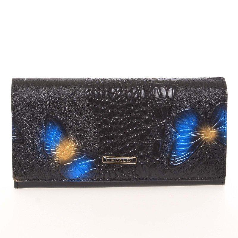 Exkluzivní polokožená dámská peněženka Cavaldi 3, černá