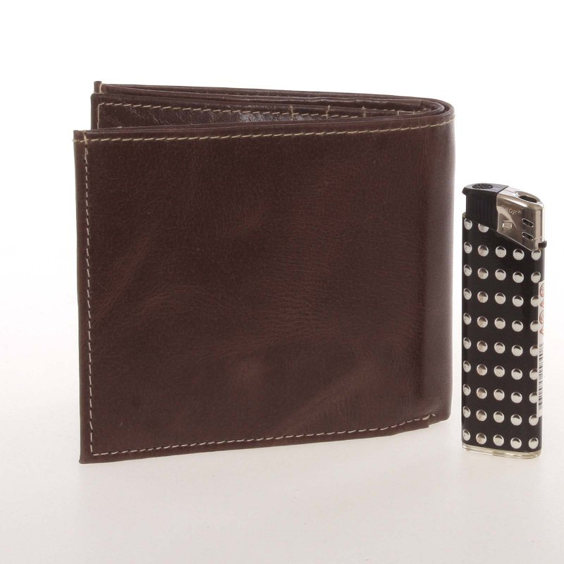 Originální pánská kožená peněženka Buffalo Wild, hnědá