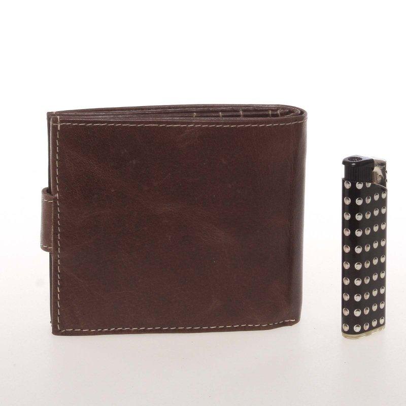Originální pánská kožená peněženka Buffalo Wild, hnědá se zapínáním