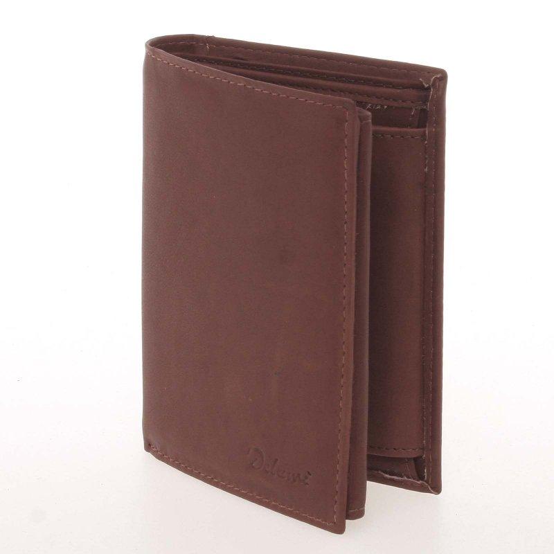 Pánská peněženka z pravé kůže, hnědá