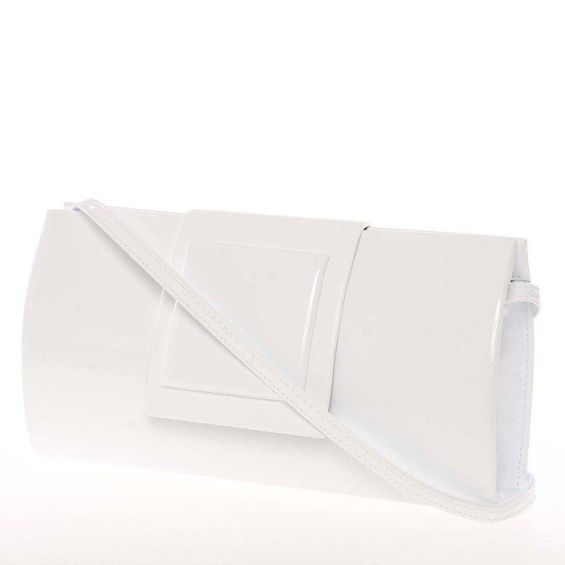 Luxusní kabelka a psaníčko Alex, lakované bílé new
