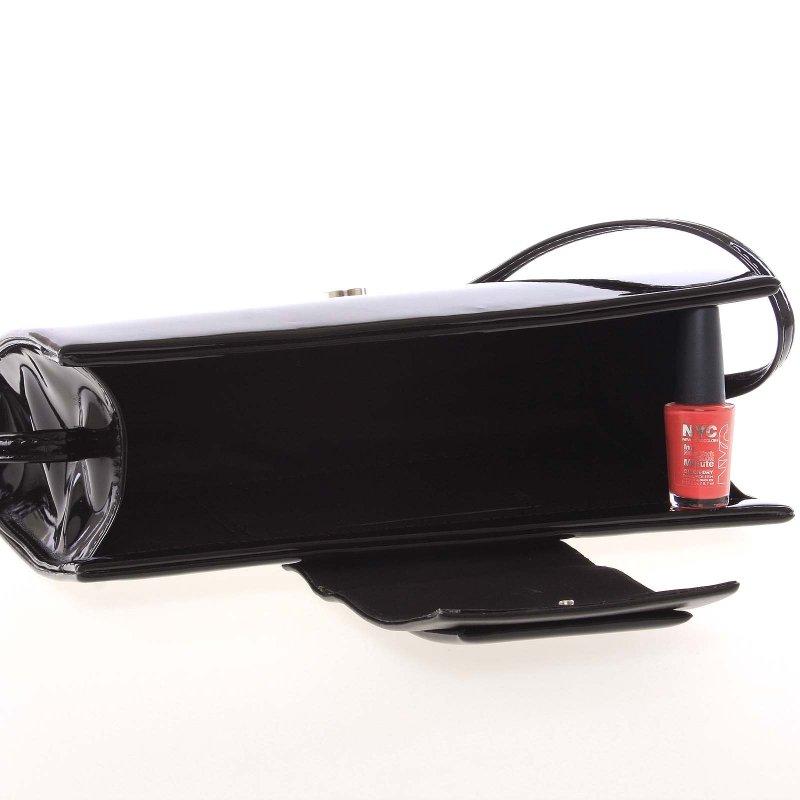 Luxusní kabelka a psaníčko Alex, lakované černé