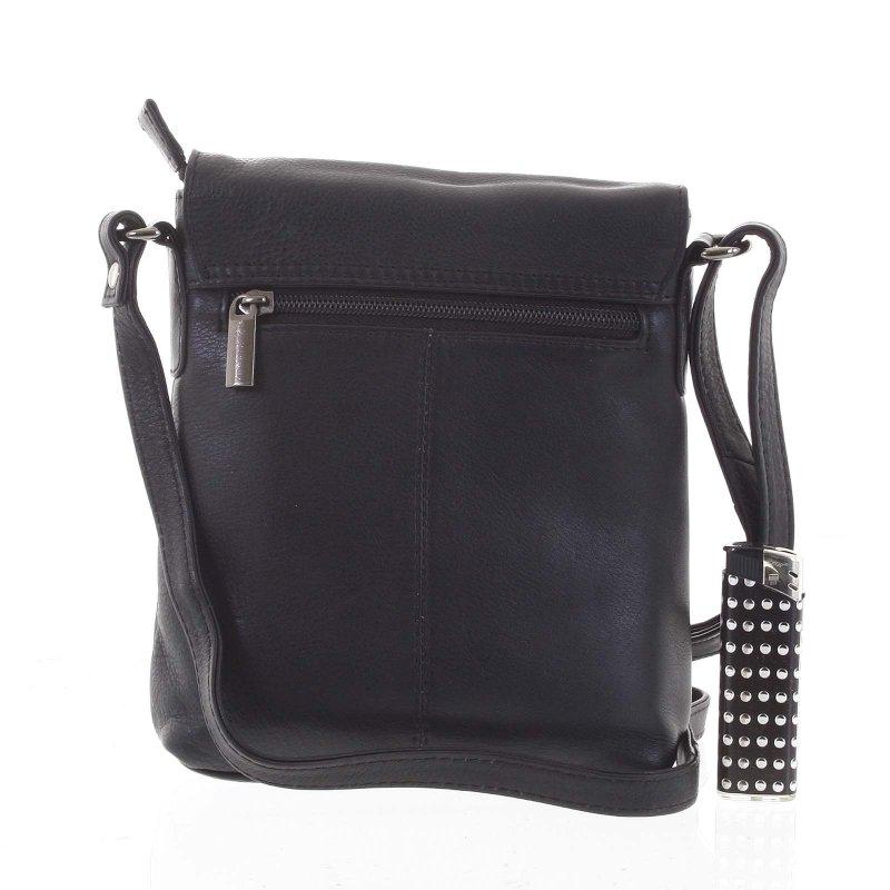 Elegantní pánská kožená taška Desmond, černá