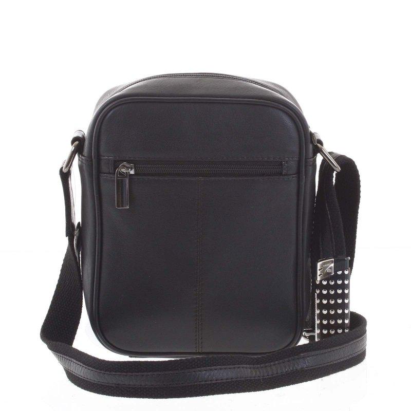 Elegantní pánská kožená taška Wild Lion, černá