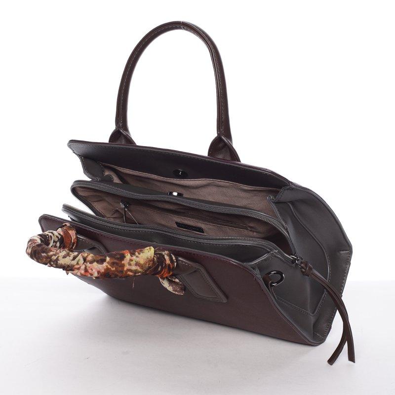 Dámská kabelka se zdobeným uchem Lea, fialovo-šedá
