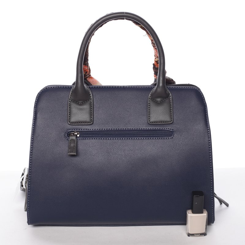 Dámská kabelka se zdobeným uchem Lea, modro-černá