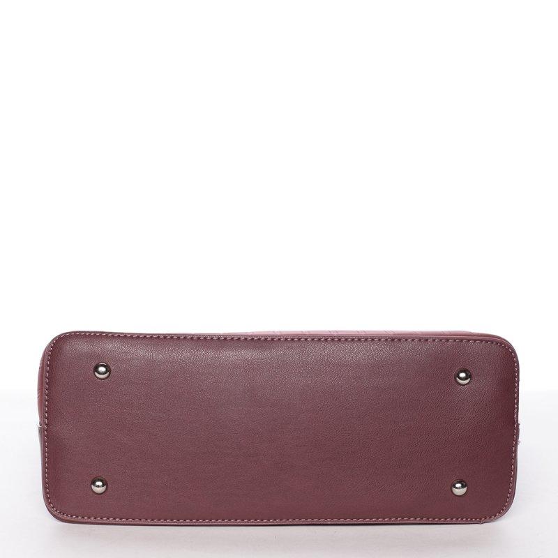 Luxusní semišová kabelka Laila, vínově červená