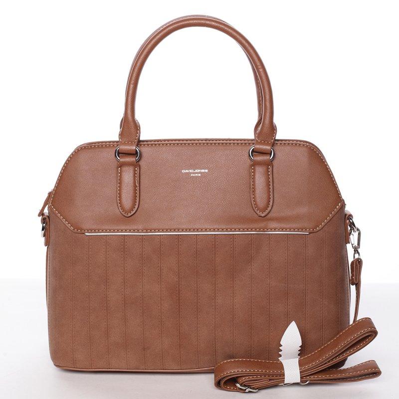 Luxusní semišová kabelka Laila, koňaková