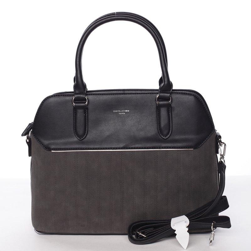 Luxusní semišová kabelka Laila, černá
