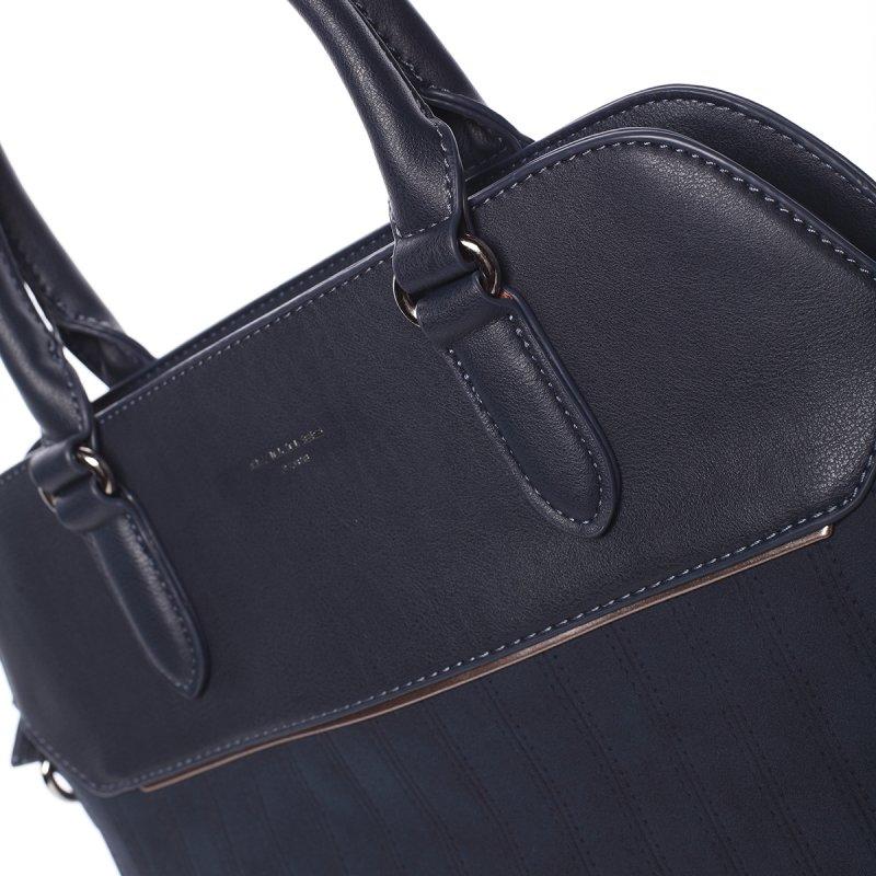 Luxusní semišová kabelka Laila, modrá