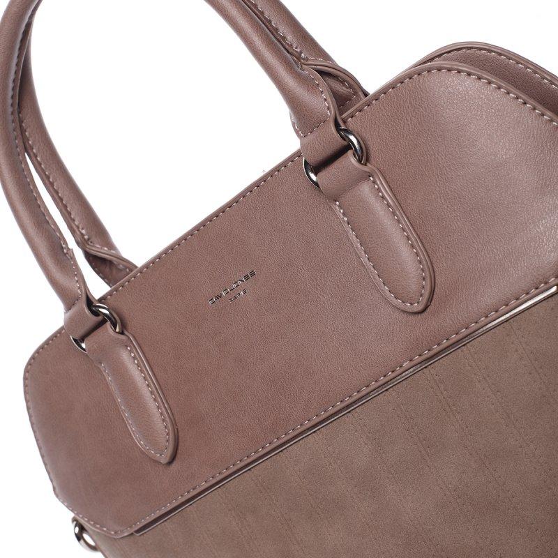 Luxusní semišová kabelka Laila, růžová