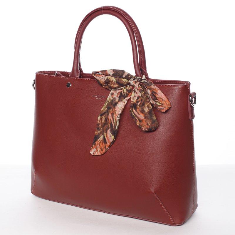 Luxusní zdobená kabelka Jordana, červená