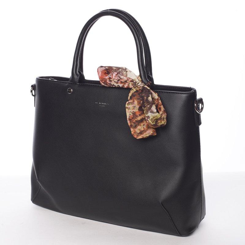 Luxusní zdobená kabelka Jordana, černá