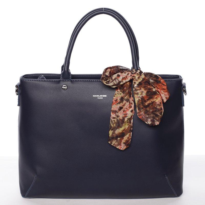 Luxusní zdobená kabelka Jordana, modrá