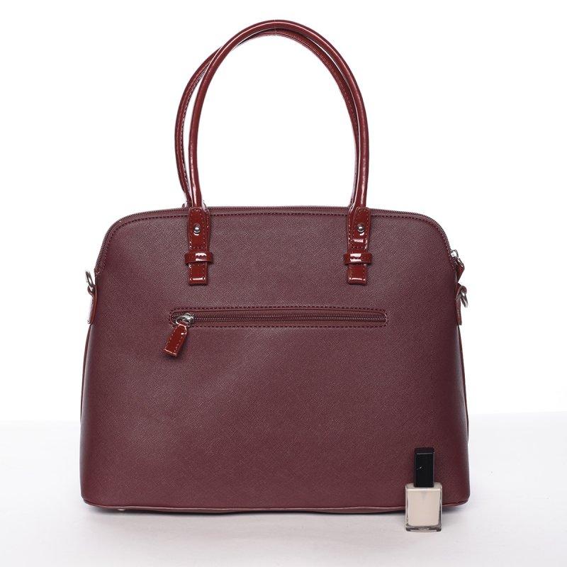 Luxusní kombinovaná kabelka July, vínově červená
