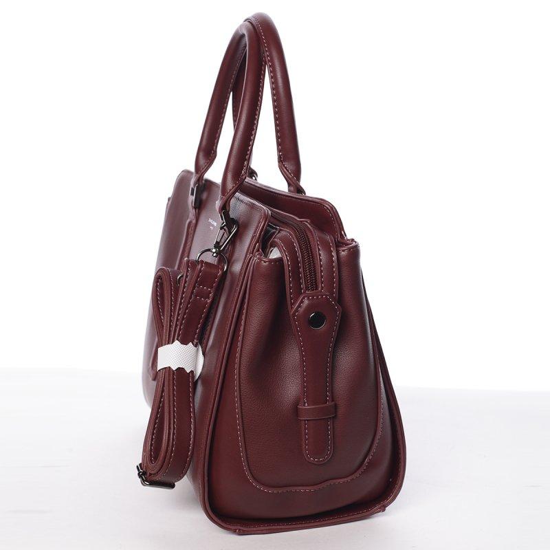 Dámská nadčasová kabelka Ilsa, vínově červená