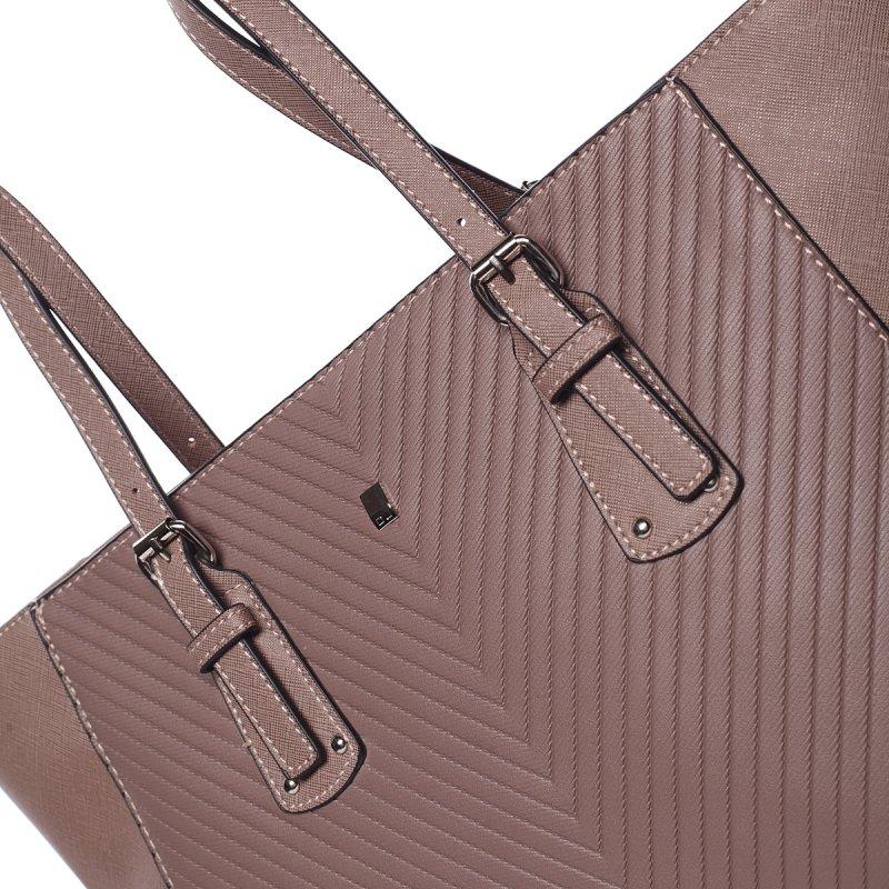 Dámská prošívaná kabelka do ruky Ela, růžová