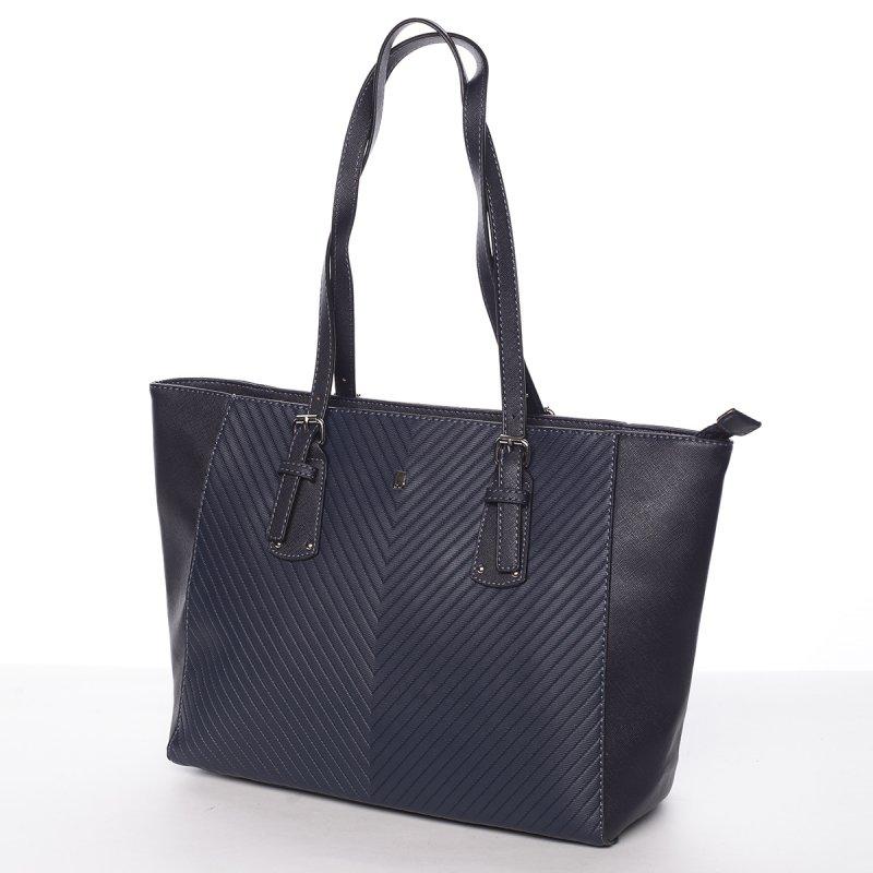 Dámská prošívaná kabelka do ruky Ela, modrá