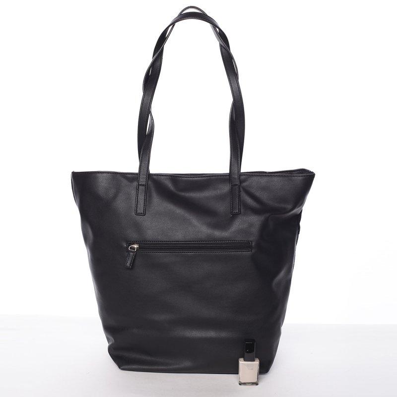 Prošívaná dámská kabelka do ruky Bela, černá
