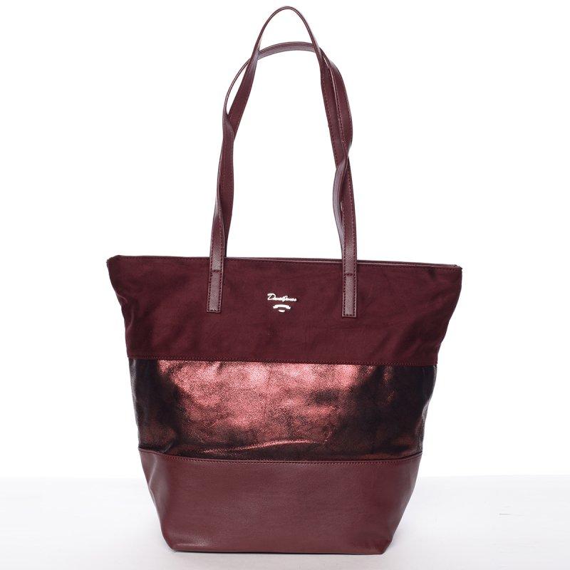 Prošívaná dámská kabelka do ruky Bela, vínově červená