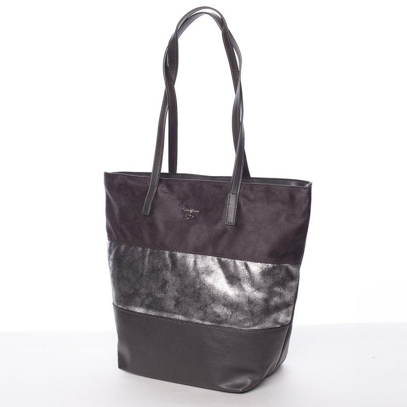 Prošívaná dámská kabelka do ruky Bela, šedá
