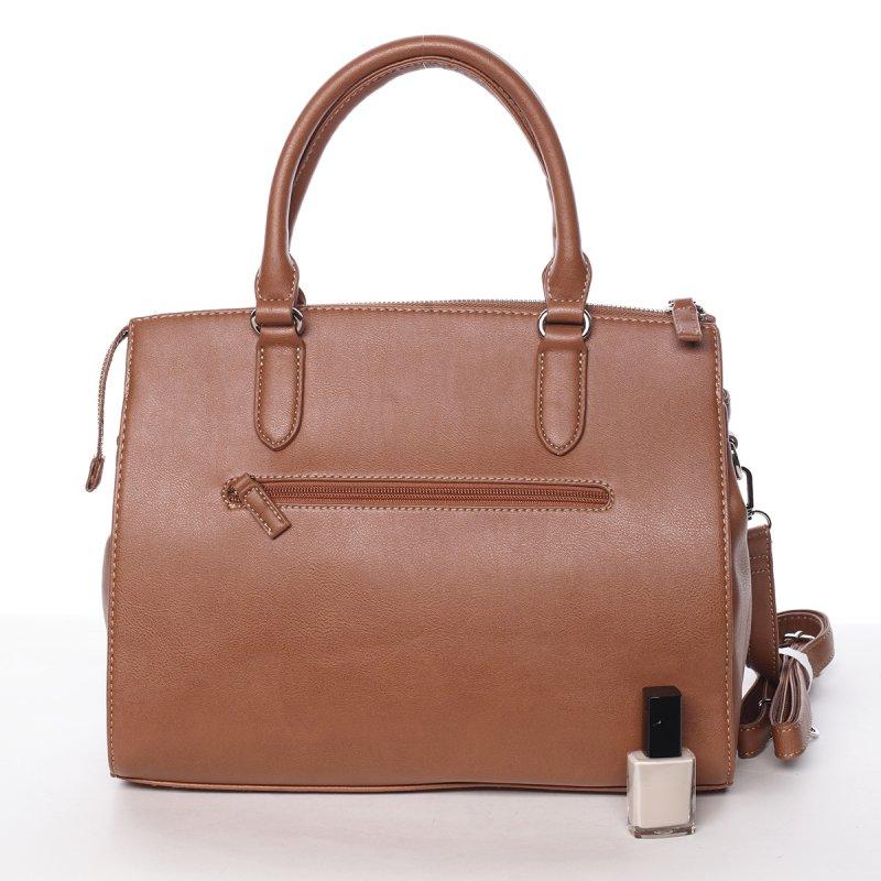 Elegantní dámská kabelka Amelie, koňaková