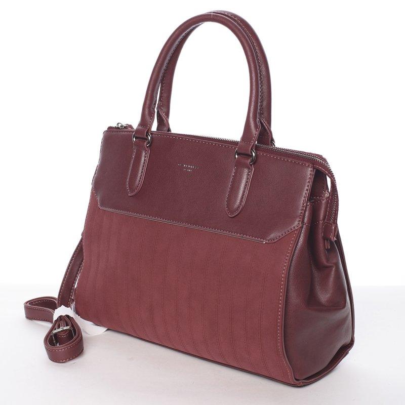 Elegantní dámská kabelka Amelie, vínově červená