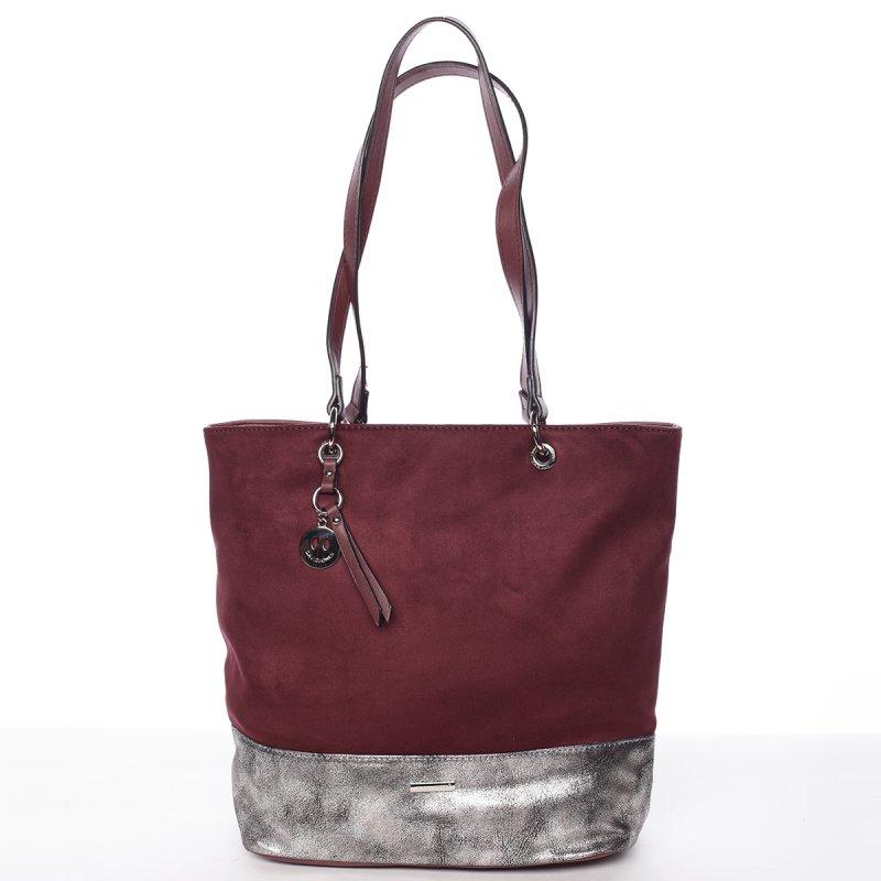 Moderní dámská kabelka Doris, vínově červená