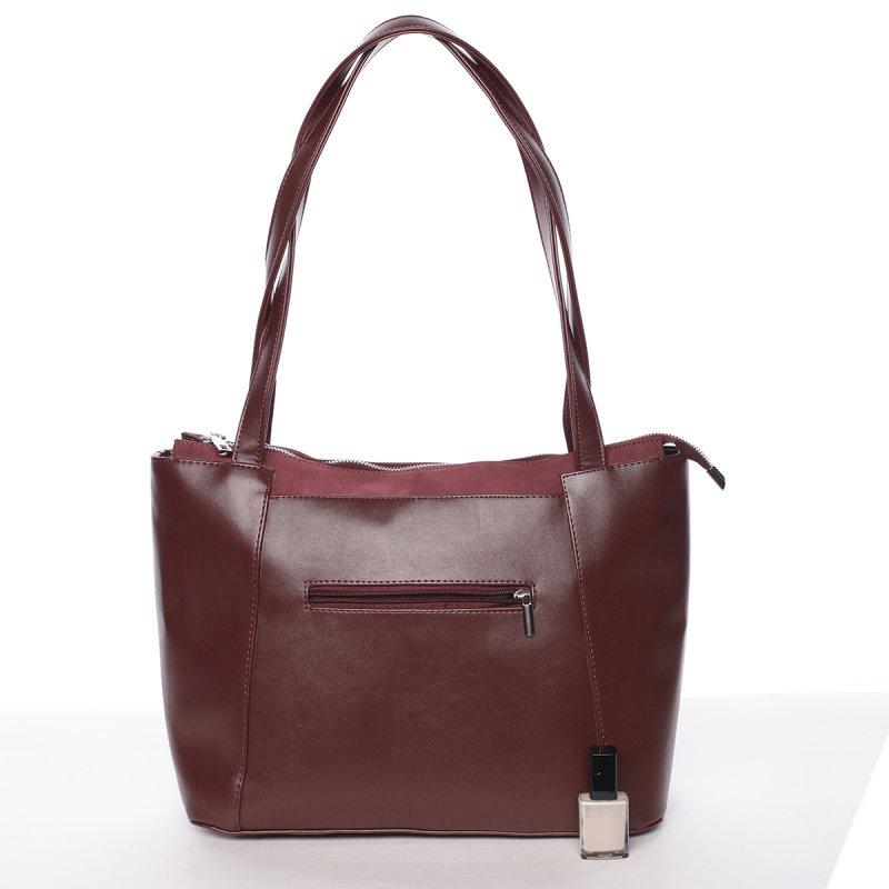 Luxusní lehká dámská kabelka Ruth, vínově červená