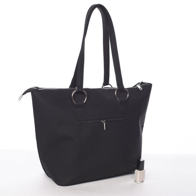 Trendy dámská kabelka do ruky Charlotta, černá