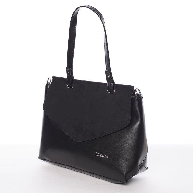 Elegantní odlehčená dámská kabelka Erin, černá