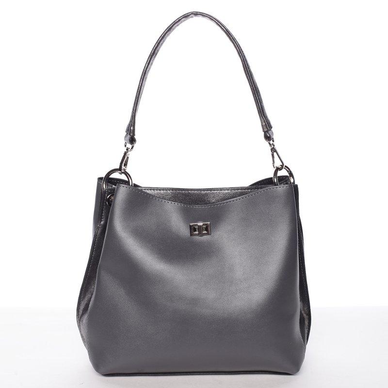 Elegantní dámská odlehčená kabelka Rea, šedá