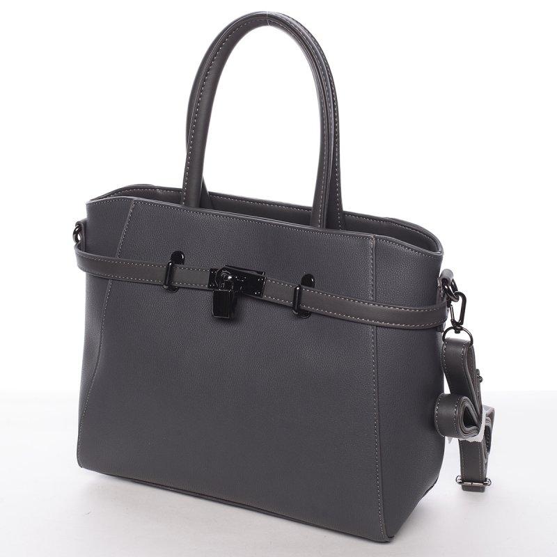 Moderní dámská kabelka do ruky Sarah, šedá