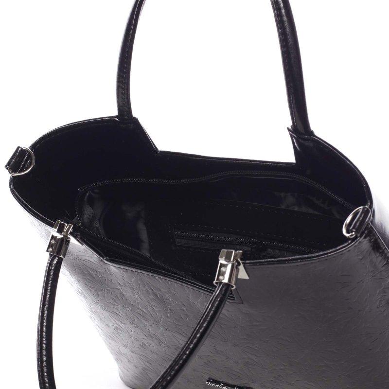 Dámská květovaná kabelka Marisa, černá