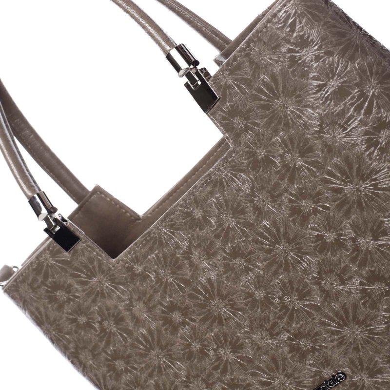 Dámská květovaná kabelka Marisa, světle hnědá