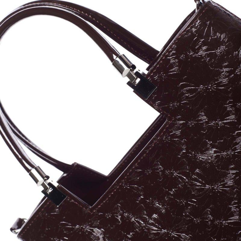 Dámská květovaná kabelka Marisa, vínová